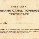 Panama canal tonnage certificate